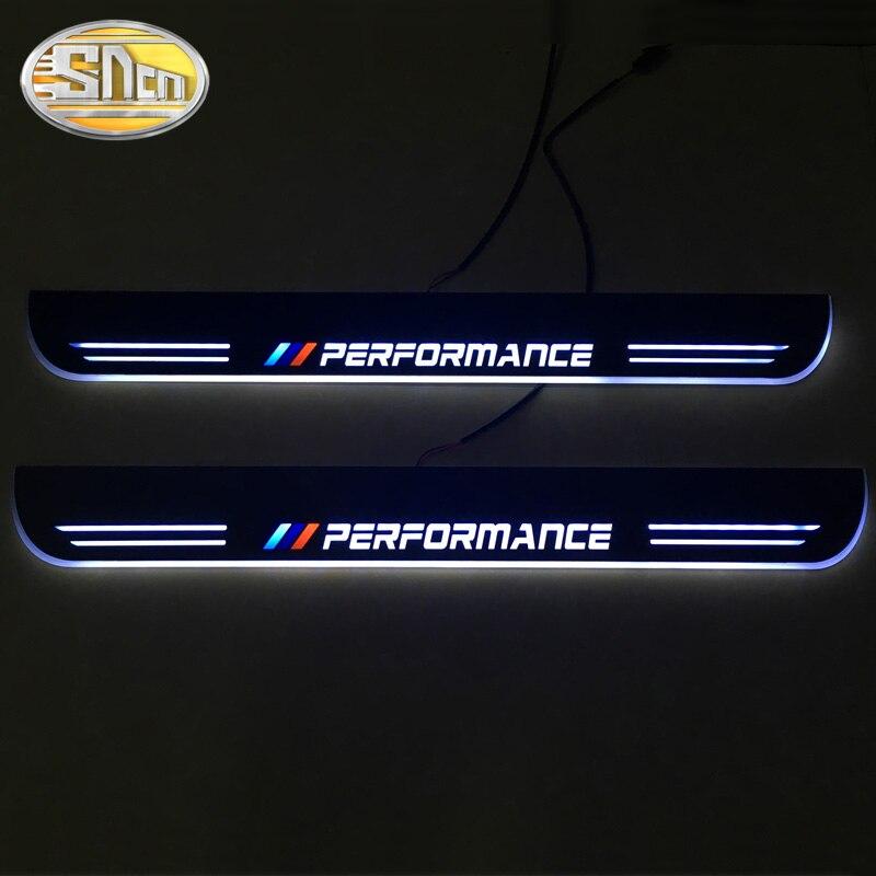 SNCN E63 E64 2 PCS LIDERADA Soleira Da Porta Do Carro Para BMW 2002-2007 Ultra-fino Acrílico LEVOU Dinâmica luz bem-vindo Pedal Placa de Chinelo