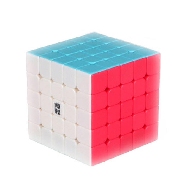 QiYi 5X5X5 Magic Cube Professional Puzzle Square Cube Stickerless Cubo Magico Game Cube Educational Neo Speed Toys For Children
