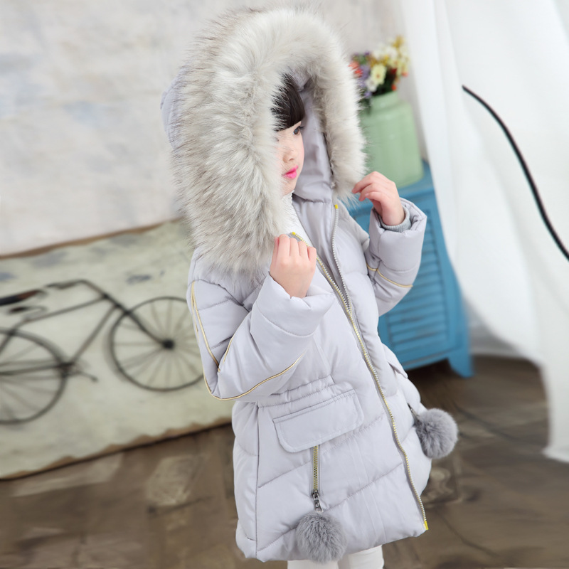 Image 5 - New  Winter Jackets Girls Hooded Thickness Kids Coats   Winter Jacket   8WC052-in Down & Parkas from Mother & Kids