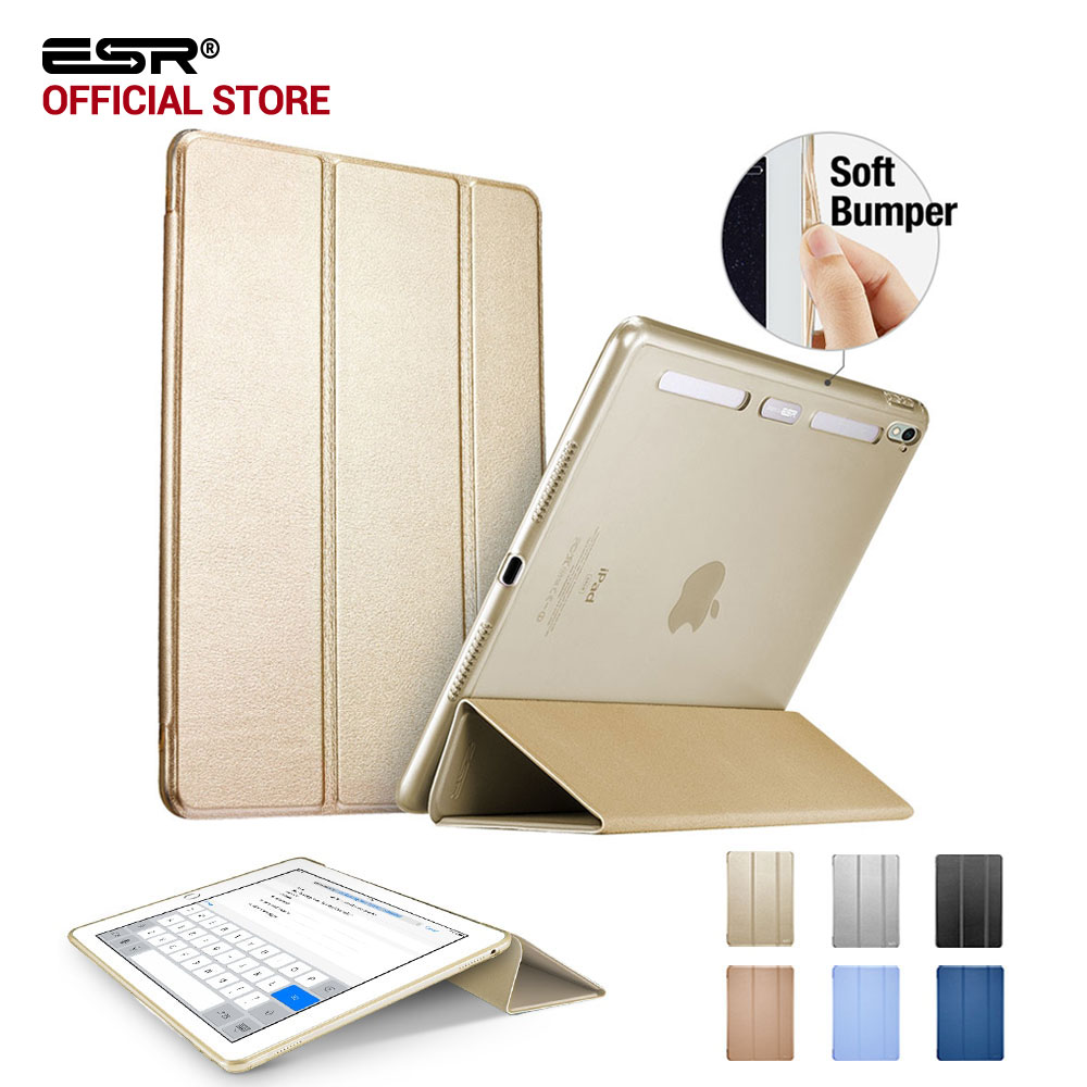 цена на Case for iPad Pro 9.7 inch, ESR Magnetic Auto Wake soft Corner color Smart Cover Trifold Stand Tablet Case for iPad Pro 9.7 inch