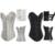 Envío Gratis Negro/Blanco Brocade Espiral Deshuesado Acero de Cintura Entrenador Cuerpo Corsés y Bustiers de Corsé Gótico Más Tamaño S-6XL Shaper