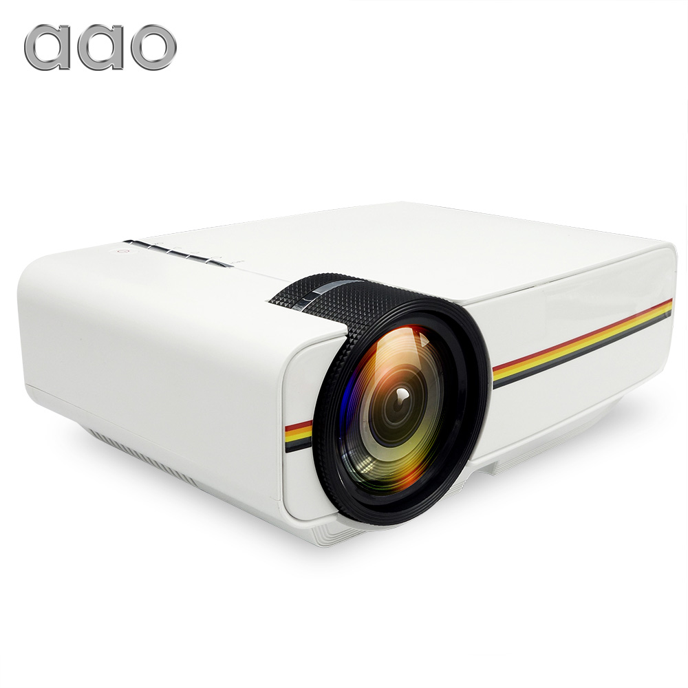 AAO YG400 up YG410 Mini Projector Wired Sync Display Portable Video For Home Theatre Support 1080P Proyector AC3 HDMI VGA USB