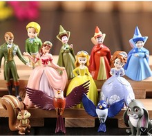 Anime 12pcs/set New Sofia the first Princess PVC Action Figure Collectible Model Toy Doll Kids Gifts 3.5-6cm