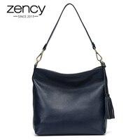 Charming Tassel Designer 100 Real Genuine Leather Women Handbag Famouse Brand Ladies Tote Shoulder Messenger Crossbody
