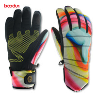Boodun Quality Winter Thermal Ski Gloves Waterproof Cool Resistant Snowboard Gloves Men Womens Guantes For Skiing