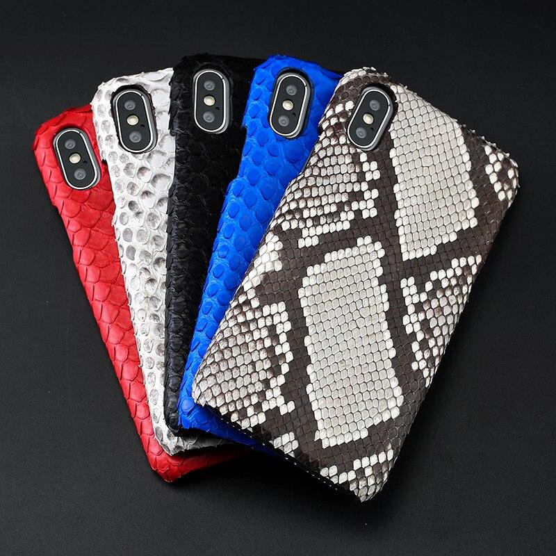 Cuir peau de python couverture arrière pour iPhone x étui peau de python étui de téléphone personnalisé haut de gamme pour iPhone 6 s 7 8 plus - 3