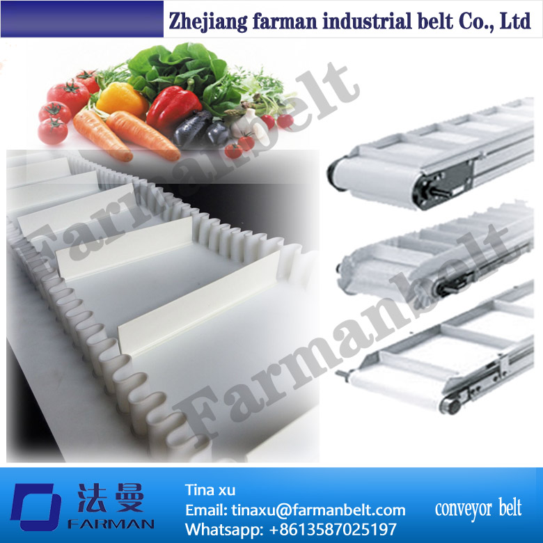 White Food Grade Pu Conveyor Belt/white cleat skirt conveyor belt бывшие в употреблении трубы