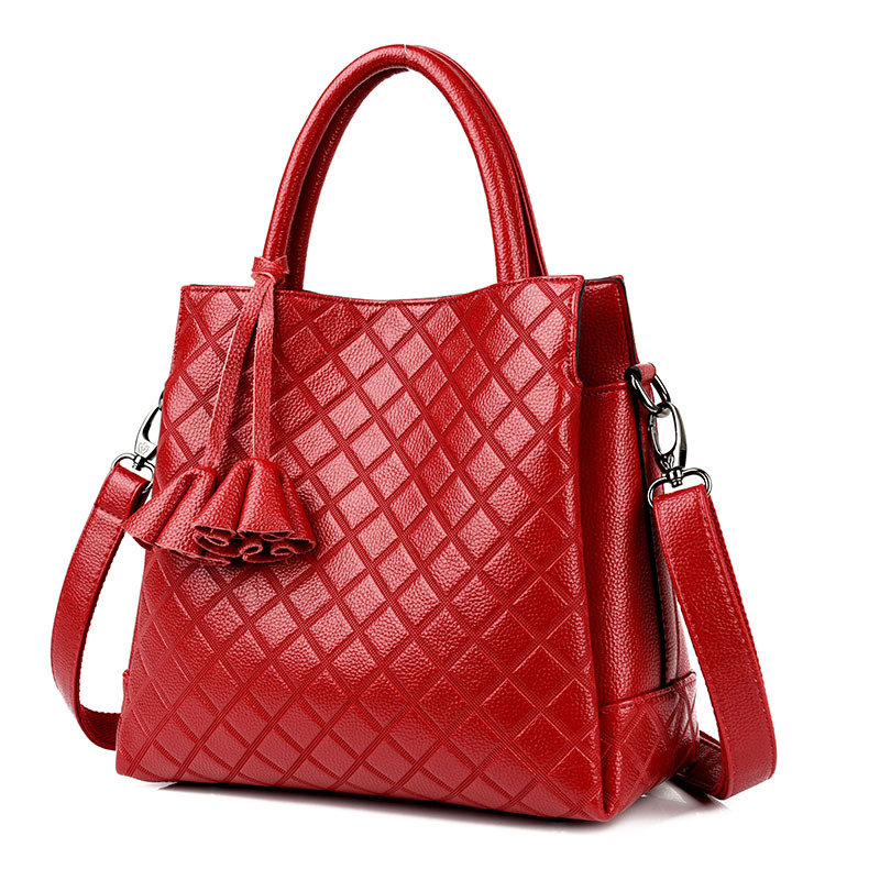 2018 New Women Leather Handbags Luxury Brand Bags Female Shoulder Bag Crossbody Messenger Bag Tote 3 Pockets Sac Main Femme