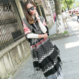 Image 4 - Luxury Brand Scarf Pashmina Echarp Cashmere Wrap Shawl Winter Scarf Ladies Scarves Tassels Long Blanket  Bandana Face Shield