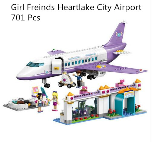 CX 79175 701 Pcs Model building kits compatible with lego city 41109 Girl Friends Heartlake City Airport Set Bricks figure toys 731pcs friends heartlake city princess emma s house 10541 model building blocks assemble bricks toys luis compatible with lego