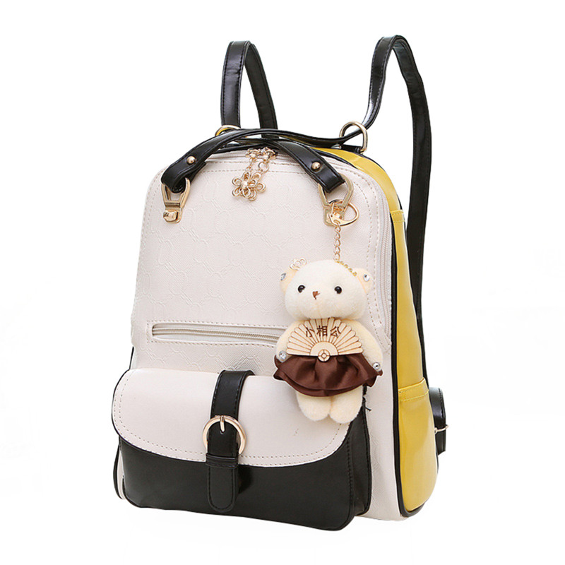 Women Backpack PU Leather School Travel Bag for Teenager Girls Shoulder Bags Ladies Rucksack Mochila Escolar Female Waterproof fashion women leather backpack rucksack travel school bag shoulder bags satchel girls mochila feminina school bags for teenagers