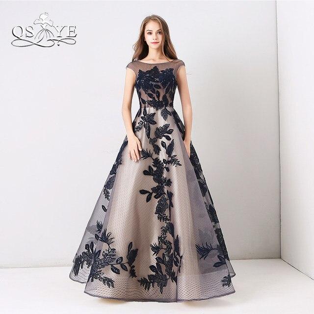 Online Shop QSYYE 2018 Vintage Black Evening Dresses Elegant ...