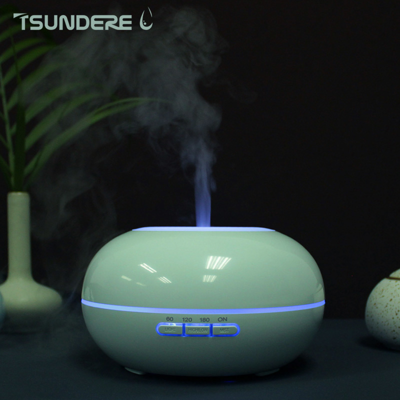 TSUNDEREL Air Humidifier Essential Oil Diffuser LED Ultrasonic Aroma Diffuser Lamp Aromatherapy Large Capacity Night Light 2017 hot sale humidifier aromatherapy essential oil 100 240v 100ml water capacity 20 30 square meters ultrasonic 12w 13 13 9 5cm