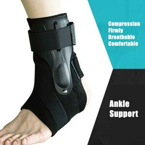 Image 4 - 1 Pc Sport Enkel Ondersteuning Brace Elastische Fitness Enkel Strap Stabilizer Bandage Retainer Voor Voet Orthese Verstuikingen Spalk Protector