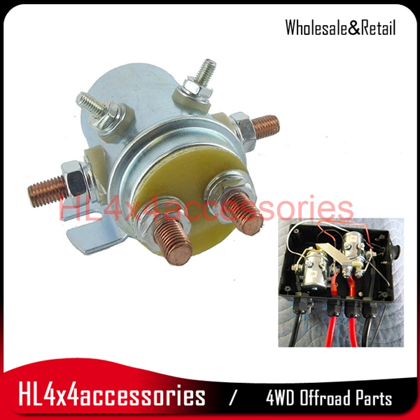 4x4 winch relay Output Winch Reversing Solenoid Relay 200A 12V 24V Automotive Switch for