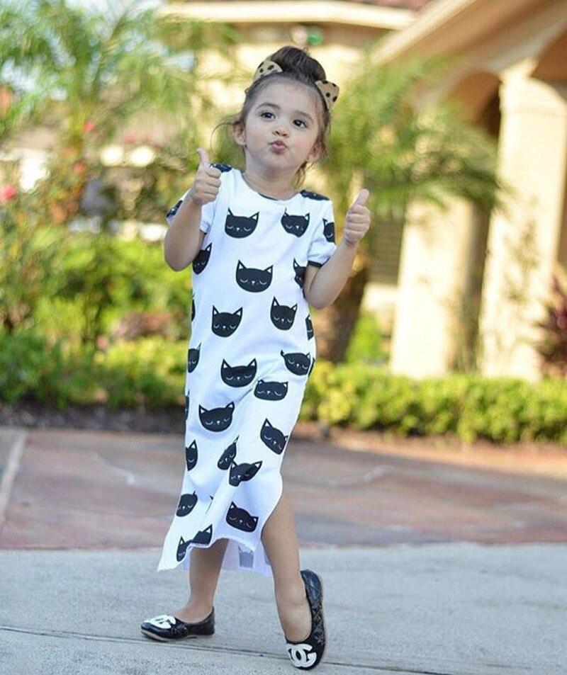 56430ac542036 Sosocoer طفل فتاة اللباس الجديد 2017 لطيف الحيوان القط الاطفال ...