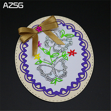 AZSG Butterfly Lace Metal Cutting Dies for Scrapbooking Photo Album Embossing DIY Paper Cards Making Decorative Stencil Craft