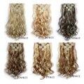 7 зажим(ов) в накладные волосы многоцветной 50 см массовая волнистые волосы 130 г парики синтетические накладные волосы с клипами для женщин отлично