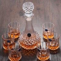 Творческий Кристалл вина Стекло виски Кубок бренди чашки красное вино Стекло вина Пот Набор