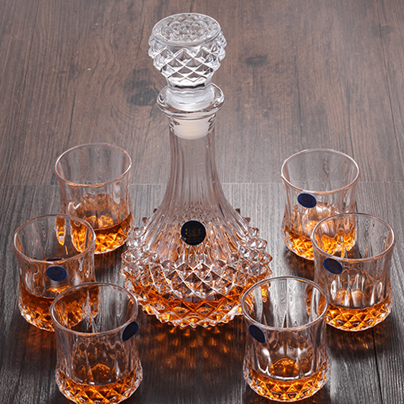 Creative Crystal Wine Glass Whiskey Cup Brandy Cup Red Wine Glass Wine Pot Set image