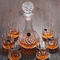 Creative Crystal Wine Glass Whiskey Cup Brandy Cup Red Wine Glass Wine Pot Set