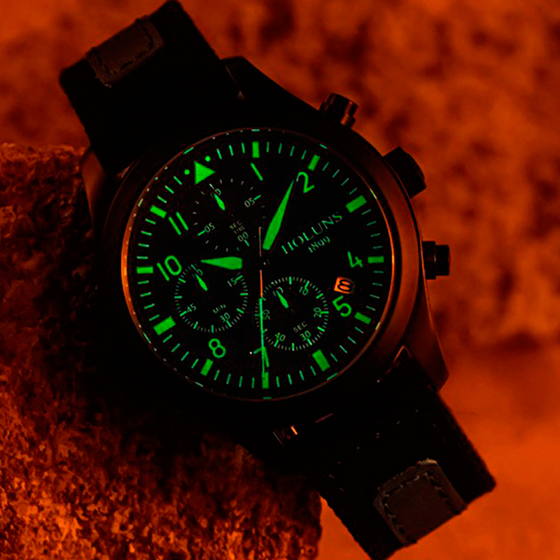 Holuns Luminous Date Chronograph Special Male Watch Outdoor Sports Watch Military Waterproof Men
