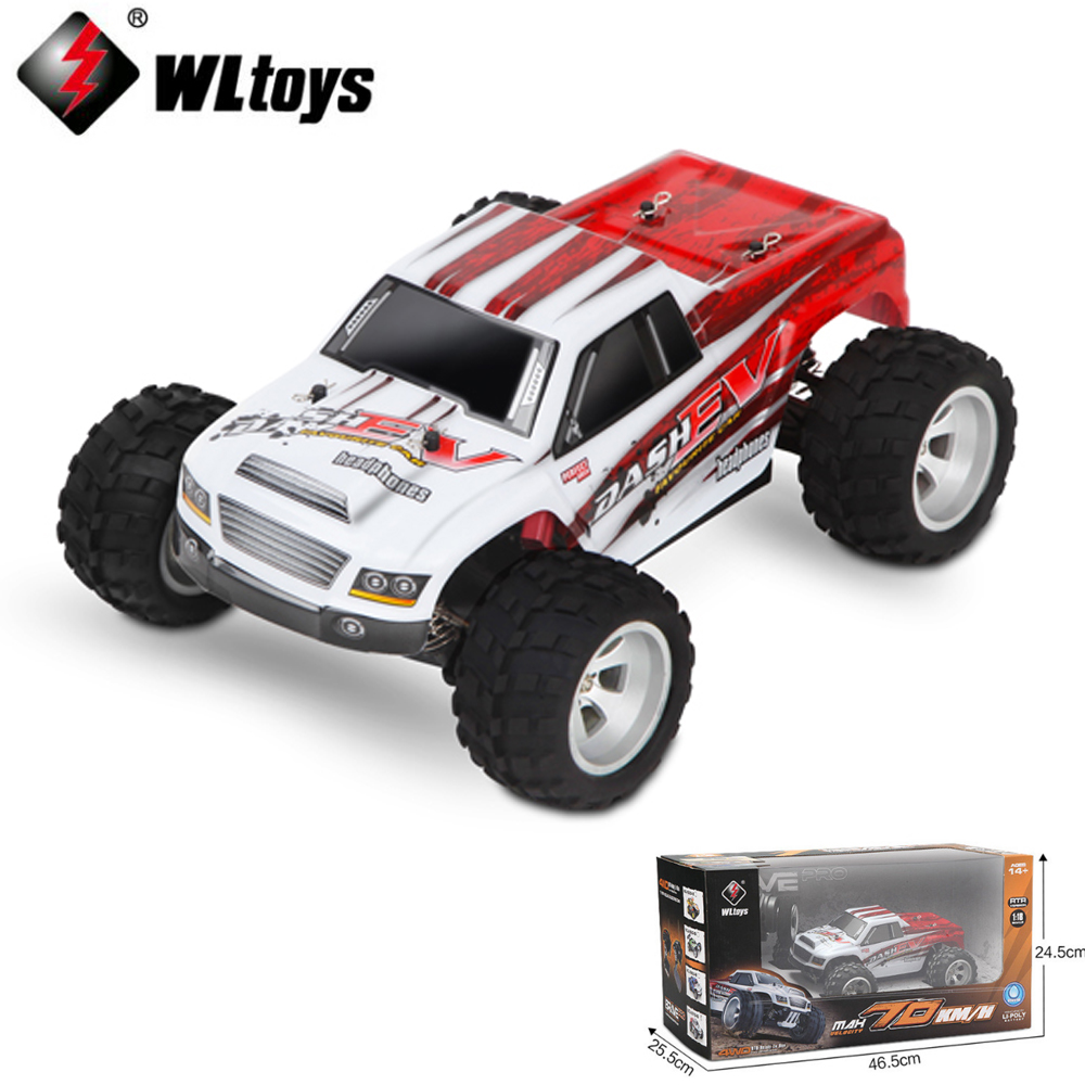 Wltoys A979-B 4WD 70km/h 1:18 Electric four-wheel bigfoot High Speed RC car2.4G RC Buggy Off-Road