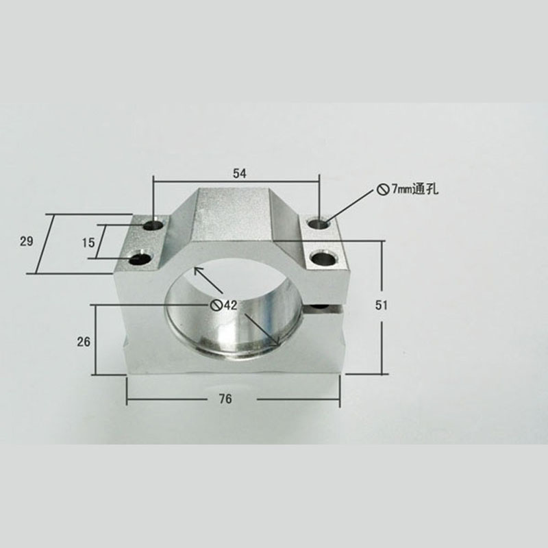 WSJZ42 special holder spindle clamp inner diameter 42MM+ installation screw for LD42WS-250w air cooled spindle motor