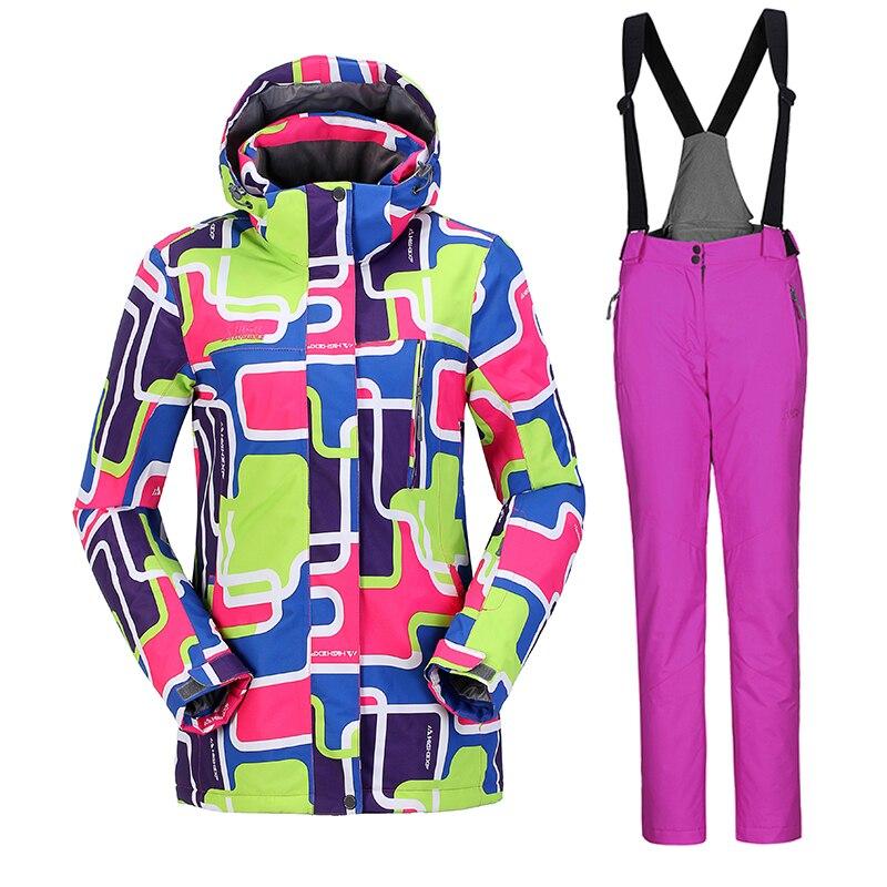 Prix pour Haute Expérience Russe Femmes Ski Costumes Vestes Et Pantalons Snowboard Vêtements Snowboard Ski Veste Salopette Étanche Respirant