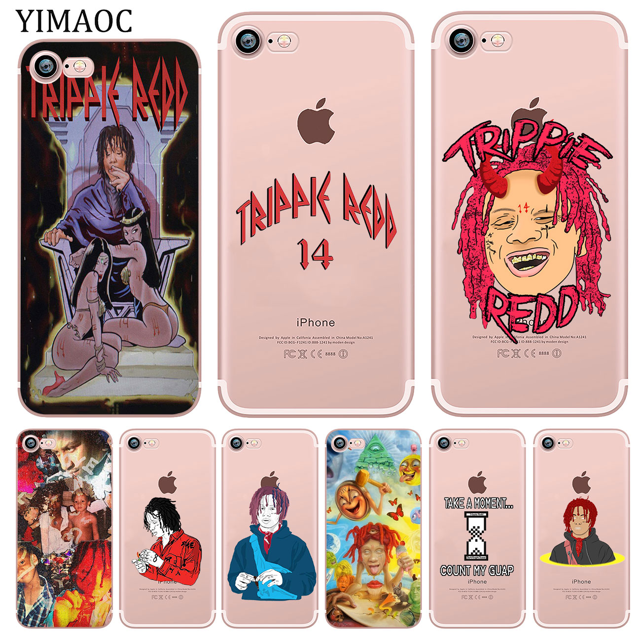YIMAOC Hip hop artist Trippie Redd Soft Silicone Phone Shell Case for iPhone XR X XS 11 Pro Max 5 5S SE 6 6S 7 8 Plus 10 Cover image