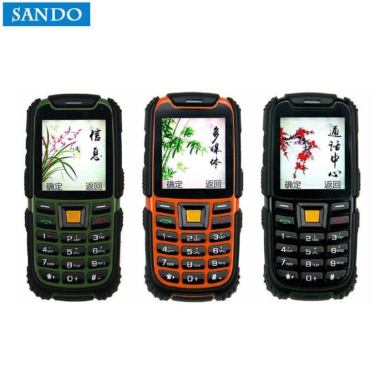 D'origine S6 IP67 Russe clavier Étanche Téléphone 2500 mAh Batterie Longue Attente Son Fort Antichoc Extérieure Téléphone vieux téléphone