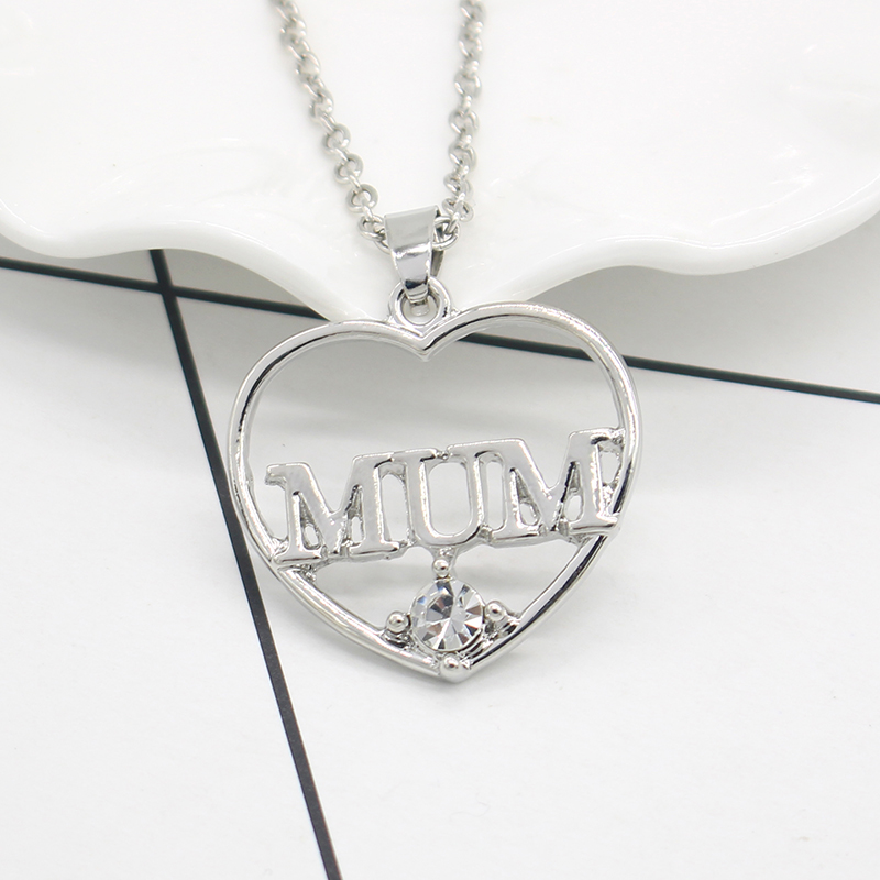 2017 new style gold and silver crystal heart shape mom mum 2017 new style gold and silver crystal heart shape mom mum necklaces pendants for women necklace as mothers day gift in pendants from jewelry mozeypictures Image collections