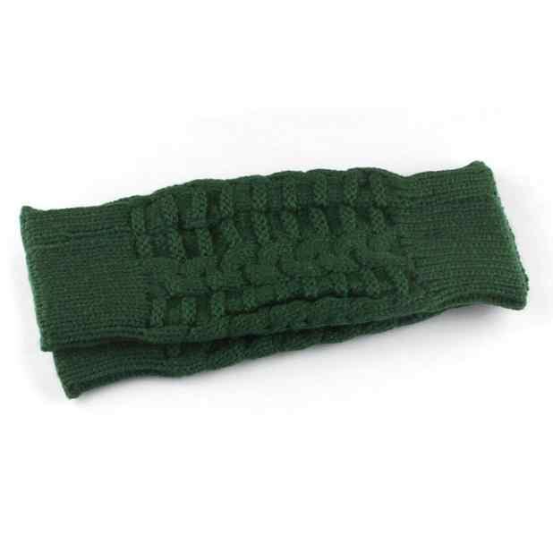 บางแขนถัก Fingerless ถุงมือฤดูใบไม้ร่วงฤดูหนาว Unisex ผู้ชายผู้หญิง Soft WARM Mitten สีเขียวสีเทาสีกากีถุงมือ
