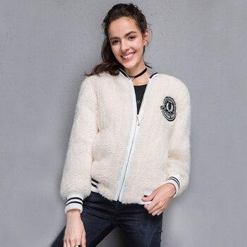 2017 New 100% Real Mink Knitted fur Short Jacket, Natural Mink Fur Coat BE-1708 Free shipping 4