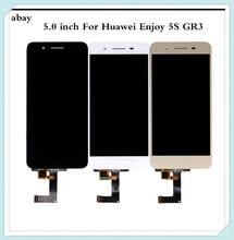 5,0 дюймовый ЖК дисплей для Huawei GR3, сенсорный экран, наслаждайтесь фотографией фонаря P8 Lite, умный экран, фонарь, фонарь