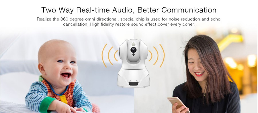 Smart WIFI PTZ FHD IP Cloud Camera with Alexa Voice Control Auto Smart Tracking Face Detection Sound Detection for Motion Alarm_F13