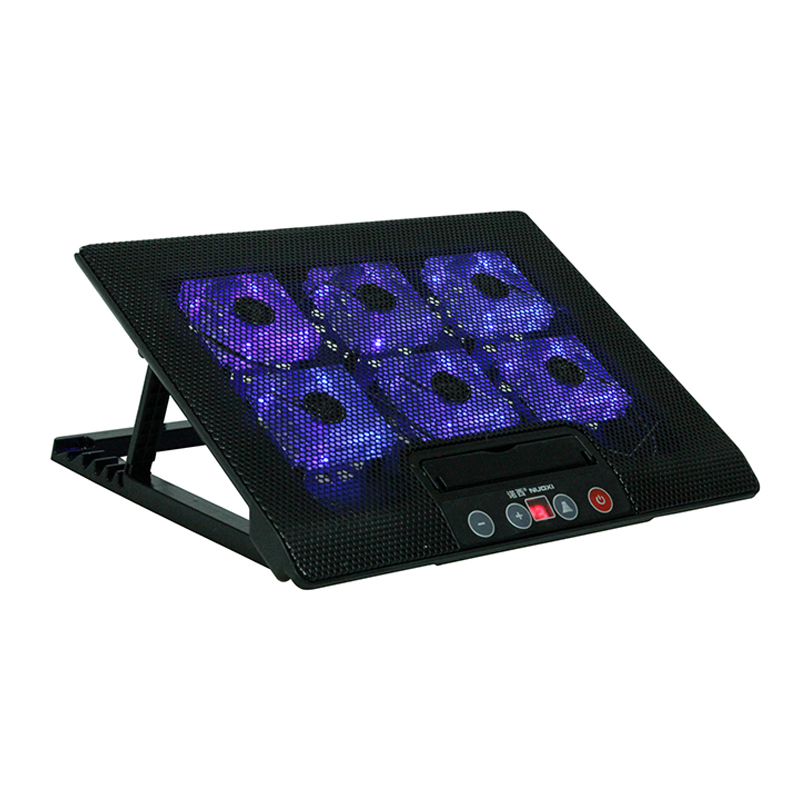 Vmonv Laptop Cooling Pad for 14 15.6 17 Inch Laptop Notebook 2 USB Ports Big Six Cooling Fan With Light Laptop Cooler Stand