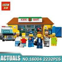 New LEPIN 16004 2232Pcs The Simpsons KWIK E MART Action Model Building Block Bricks Compatible 71016