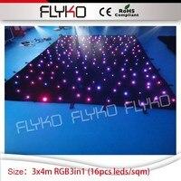 Рождество проектор огни студия фон 3 м Высокое * 4 м ширина звезды экрана под занавес света