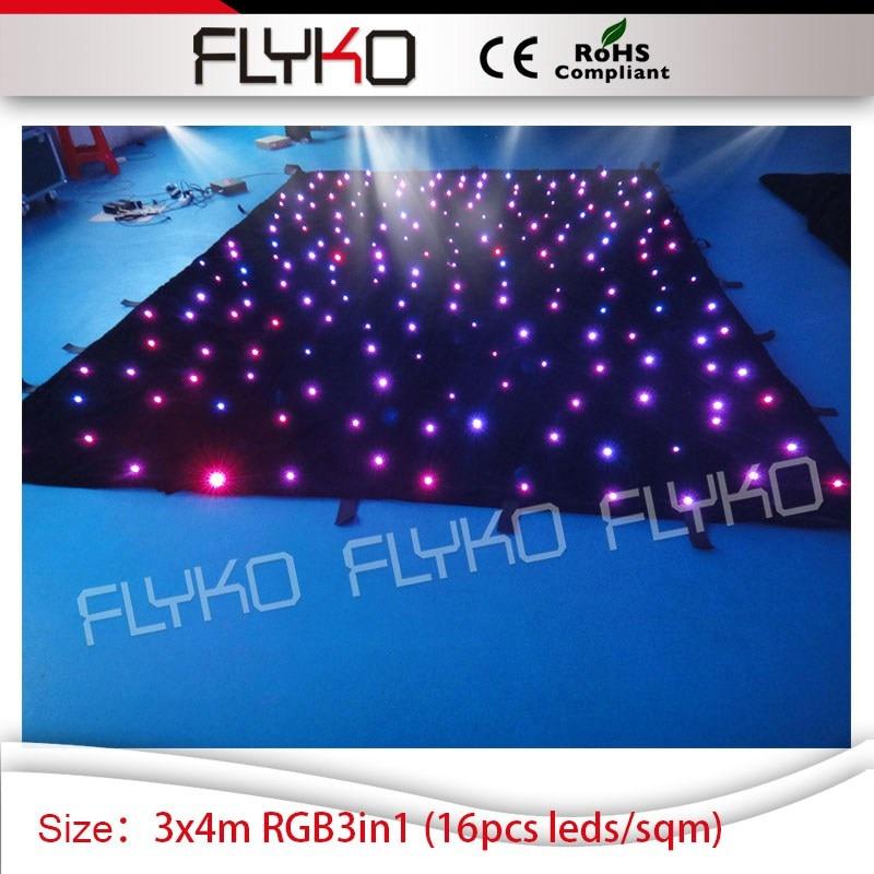 christmas projector lights studio background 3m high*4m width star display led curtain light
