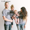 EABoutique New Fashion BEAR Letter family matching clothes matching mother daughter father son baby romper