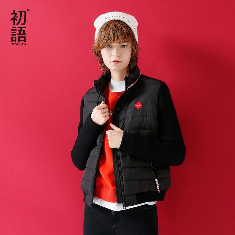 Toyouth 2018 Autumn White Duck   Down     Coat   Female Zipper Warm   Coats   Thin Slim Casual Jackets