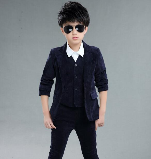 DHL10 Pieces / Wholesale Kids School Suit for Boys England Style Boys Formal Wedding Blazer Suit Boys Performance Suit Party Tux england style slim fit suit black size l