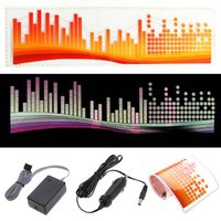 EDFY Coloré Flash Autocollant De Voiture Rhythm LED EL Light Lamp Sonore Activé Equalizer-Dot couleur bar