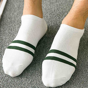 Women Socks   1Pair Unisex Comfortable Stripe   Short Sock Cotton  Black and White Socks 18NOV1