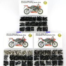 For Aprilia RS125 2006 2007 2008 2009 2010 2011 Complete Full Fairing Bolts Kit Motorcycle Full Fairing Clips Nuts Screws Steel for suzuki gsx1300r hayabusa 2008 2018 2009 2010 2011 2012 2013 2014 2015 complete full fairing bolts kit clips nuts stainless