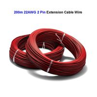 2 3 4 5 Pin 200m 22AWG Tinned Copper Electric Wire JST SM Connector Extension Cable For WS2811 WS2812 RGB RGBW LED Strip Light