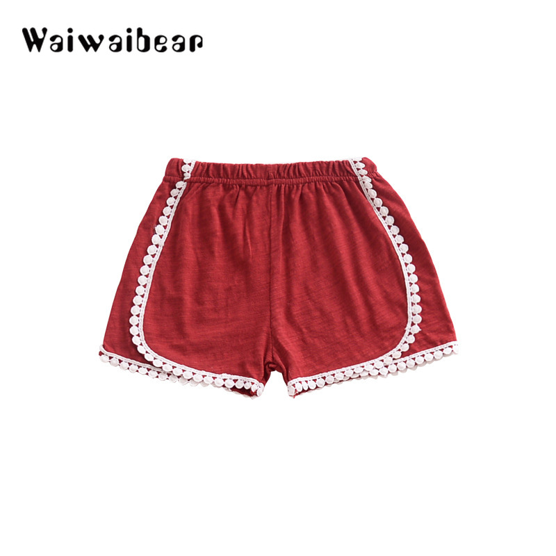 Waiwaibear Summer New Baby Girls Casual Short Pants Solid