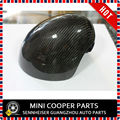 Marca Real fibra de carbono Side capa espelho substituição esquerda drive só para mini cooper f56 f55 ( 2 pçs/set )