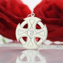 Personalized Name Cross Necklace The Sun Cross Necklace Chain Necklace Initial Pendant High Cross Jewelry